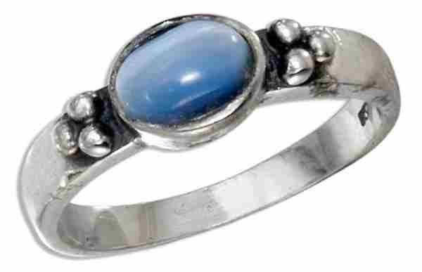 Blue Cateye Ring
