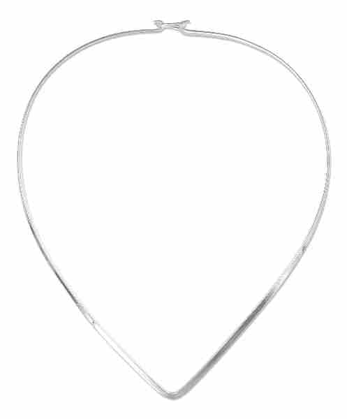 Flat Chevron Collar Choker Necklace 3mm