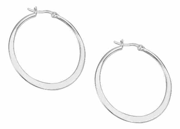 Tubular Hoop Earrings 40mm