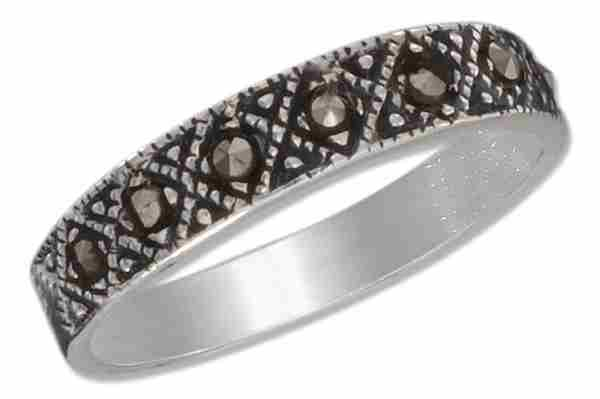 Diamond Shape Marcasite Ring