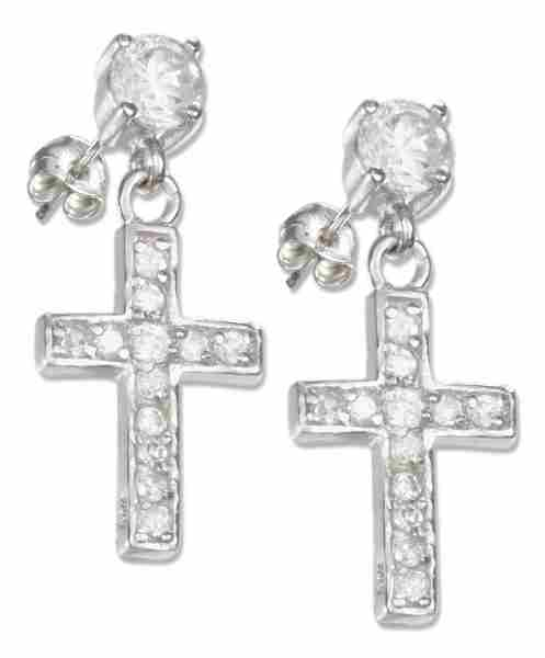Cubic Zirconia Post Earrings Cubic Zirconia Christian Religious