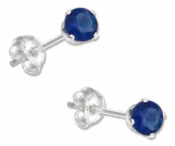 September Birthstone Cubic Zirconia Stud Earrings