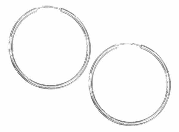 54mm Diameter Tubular Hingeless Endless Hoop Earrings