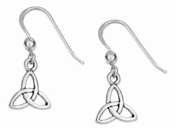 "5/8"" Celtic Trinity Knot Dangle Earrings Bead"