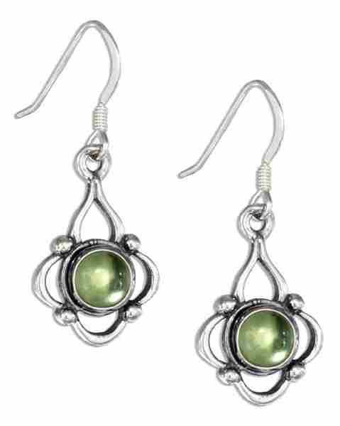 Fancy Round Peridot Earrings