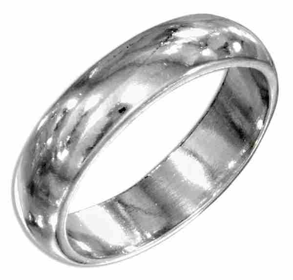 Unisex Wedding Band Ring 5mm