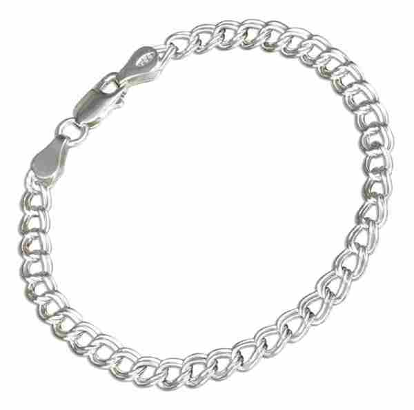 "6"" 070 Childrens Charmless Circle Link Charm Bracelet"