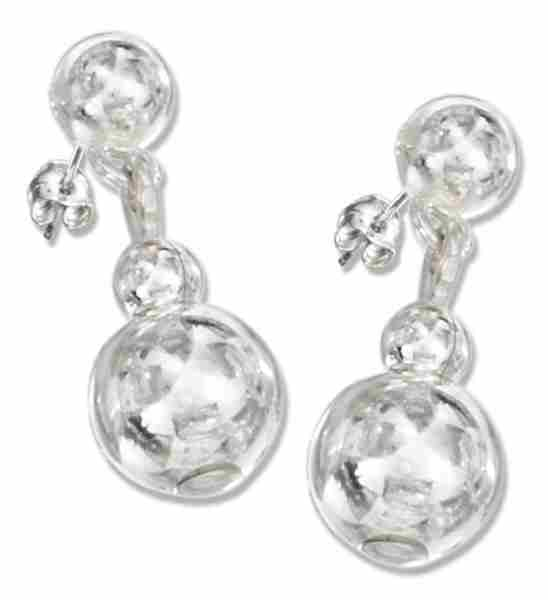 Ball Dangle Post Earrings
