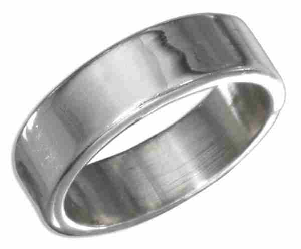 Unisex Plain Wedding Band Ring 6mm
