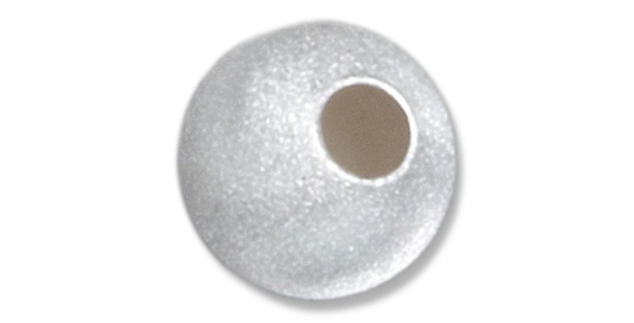 Satin Finished Pendant Spacer Bead 6mm