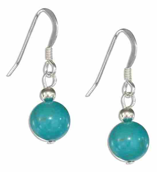 Turquoise Ball Dangle Earrings
