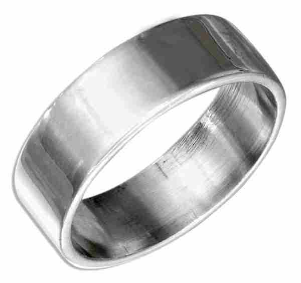 Unisex Wedding Band Ring 7mm
