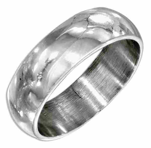 Plain Wedding Band Ring 7mm