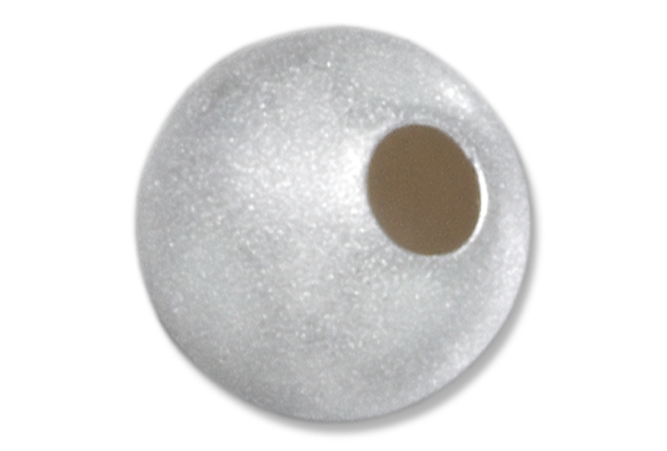Satin Finished Pendant Spacer Bead 8mm