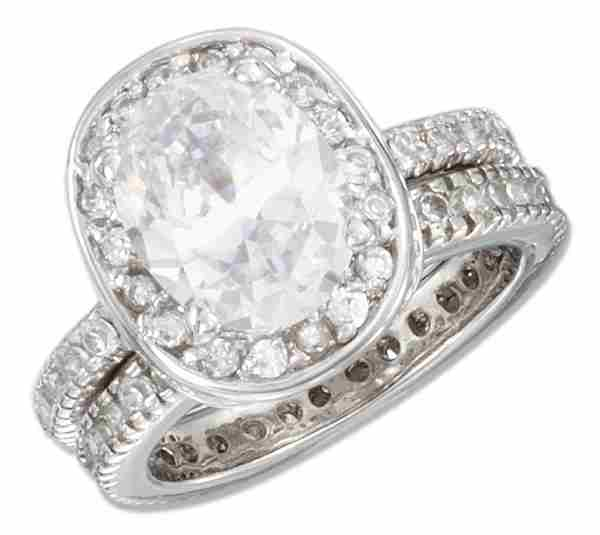 Two Band Cubic Zirconia Ring