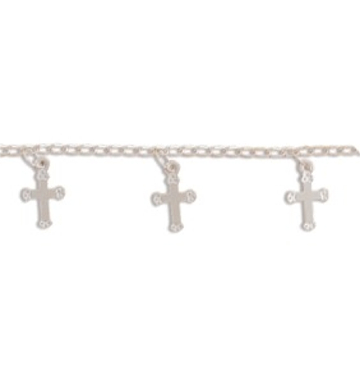 "9"" Multiple Cross Charms Ankle Bracelet Anklet"