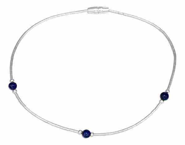 Beaded Lapis Ankle Bracelet