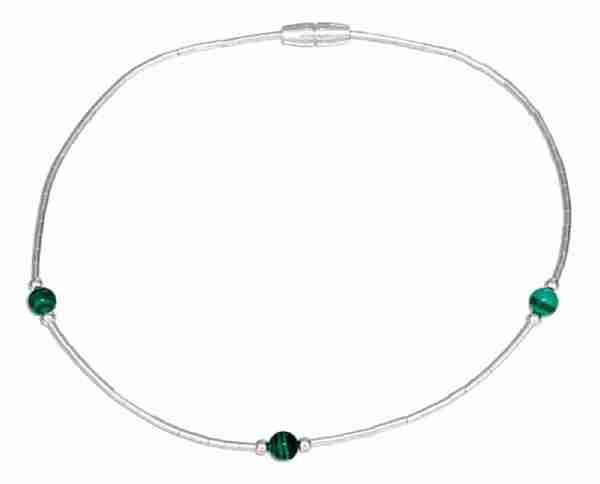 Beaded Malachite Ankle Bracelet