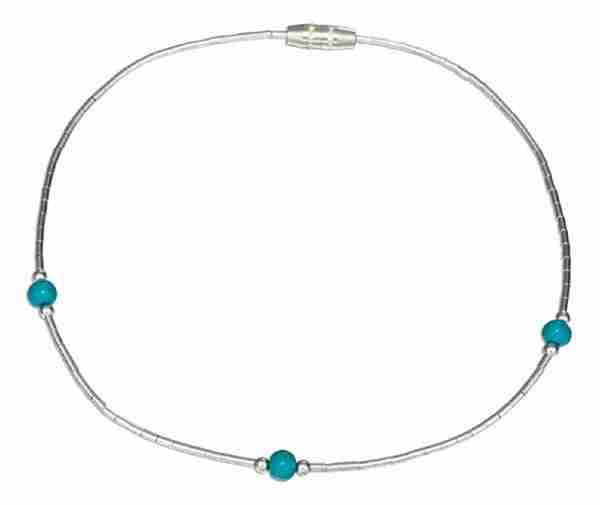 Beaded Turquoise Ankle Bracelet