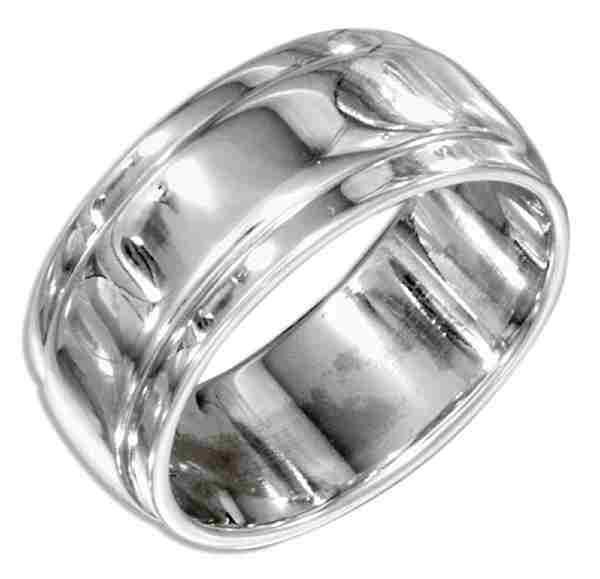 Unisex Silver Ring 9mm