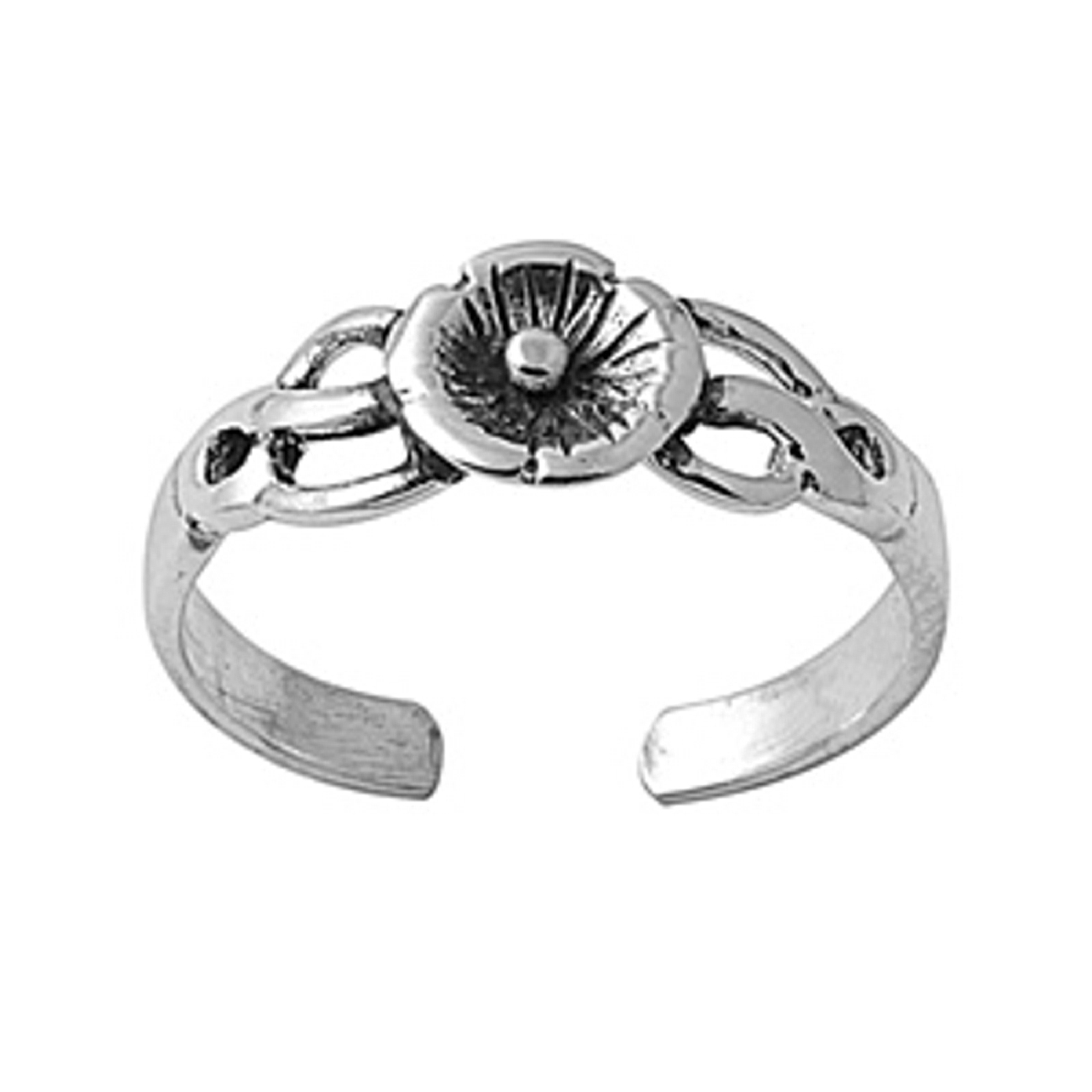 Celtic Weave Flower Adjustable Toe Ring