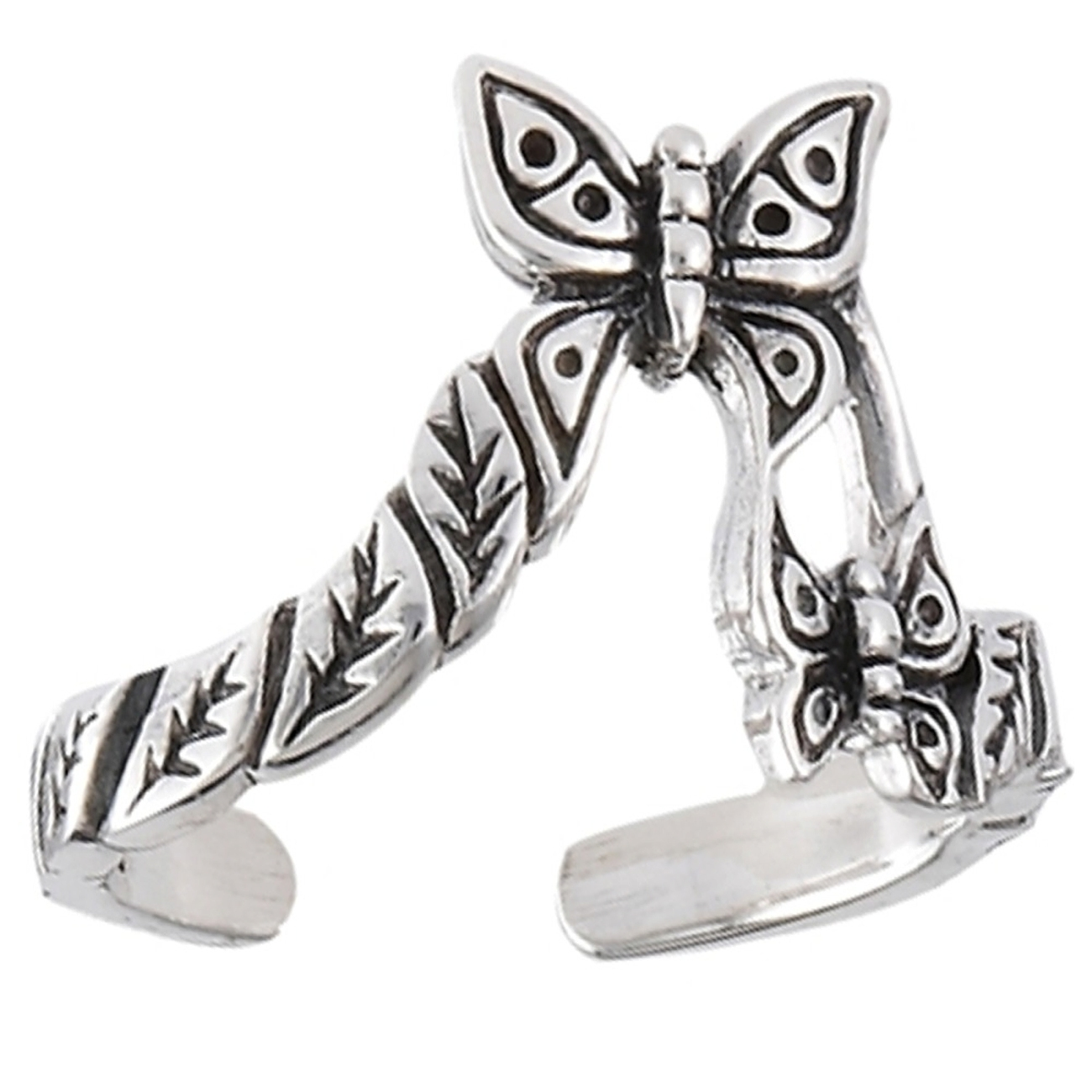 Adjustable Flying Butterflies Toe Ring
