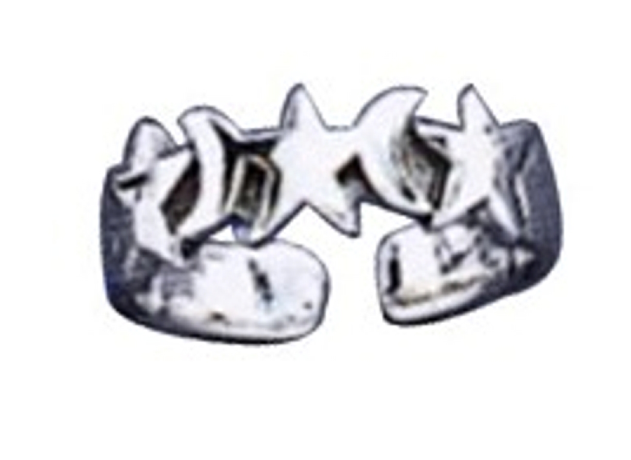 Adjustable Moon And Stars Toe Ring