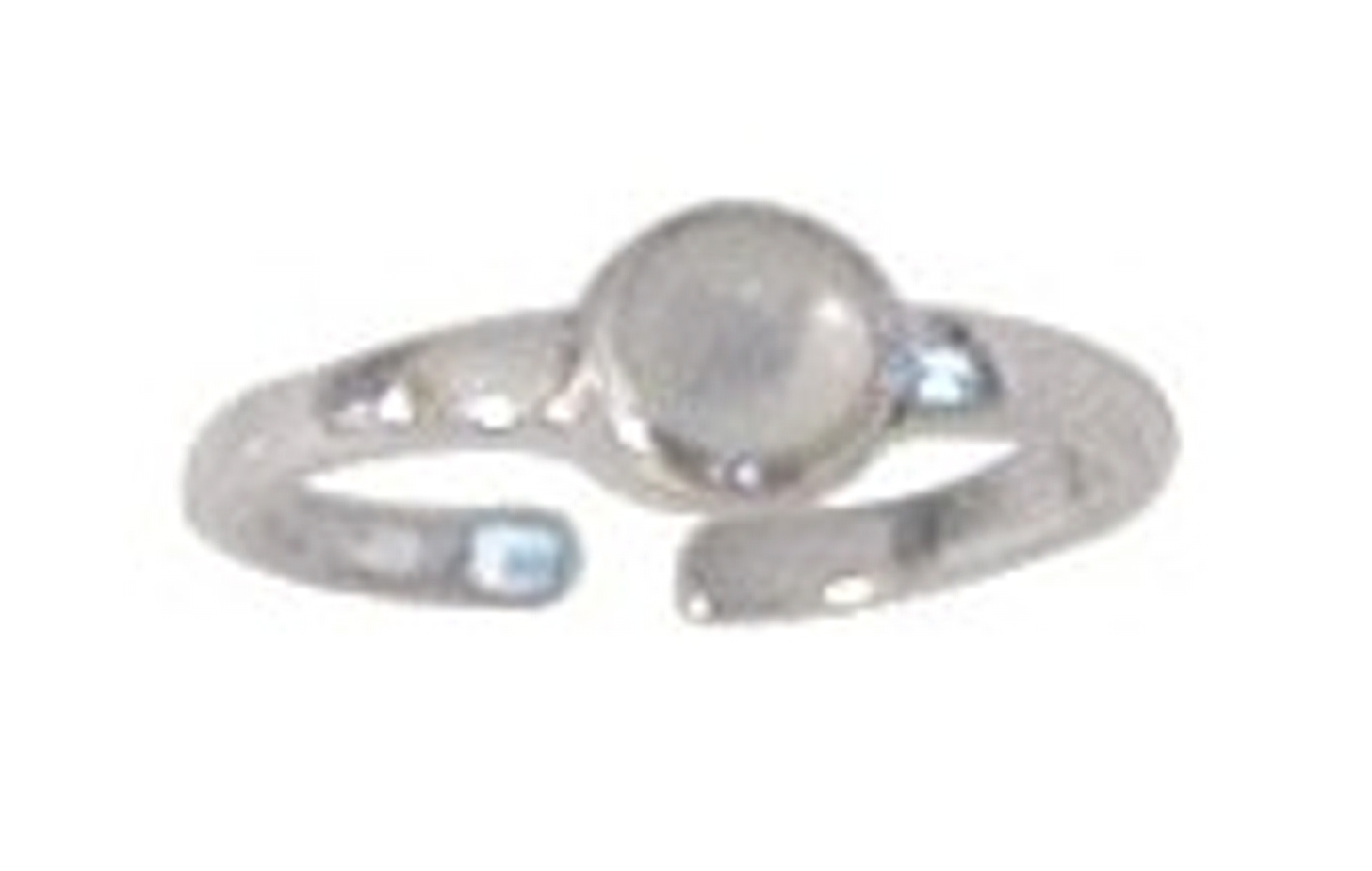 Dainty Adjustable Mother Of Pearl Dot Toe Ring
