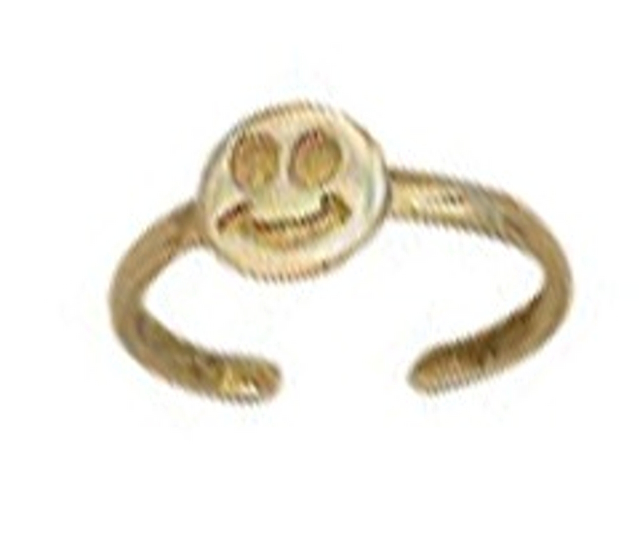 Gold Plated Smiley Smiling Face Toe Ring