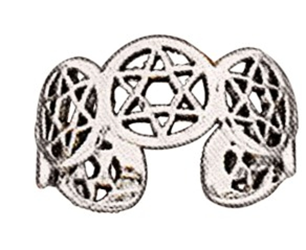 Sterling Silver Men's Adjustable Star Of David Toe Ring