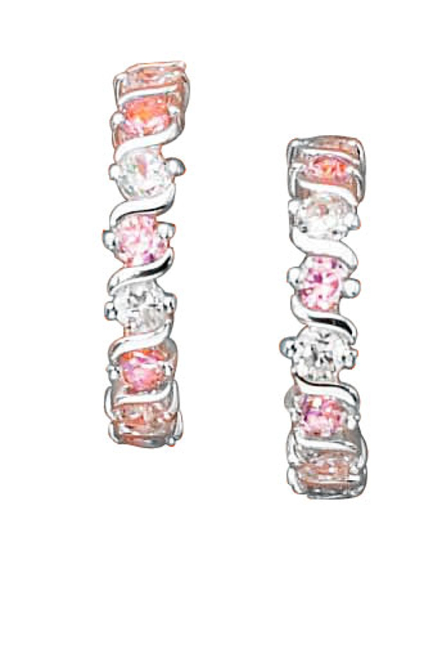 Cubic Zirconia Cuff Earrings