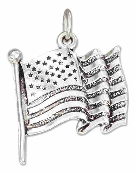 Flag Of The United States Of America Charm