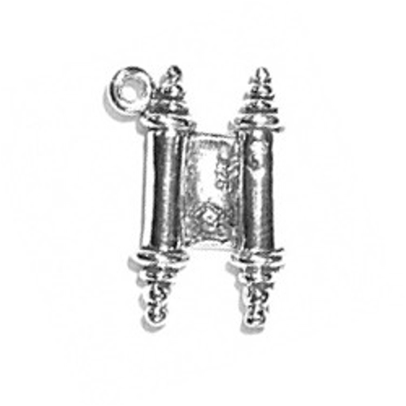 3D Ancient Or Modern Hebrew Torah Scroll Charm