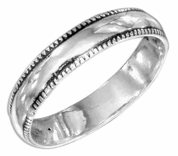 Unisex Wide Notched Ring