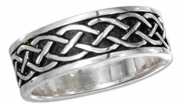 Unisex Loose Celtic Braid Band Ring 7mm