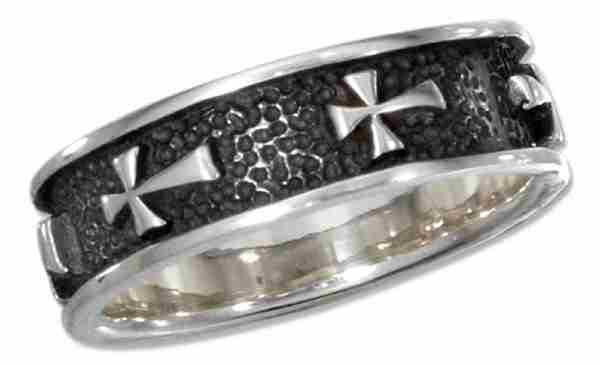 Unisex Christian Religious Cross Ring