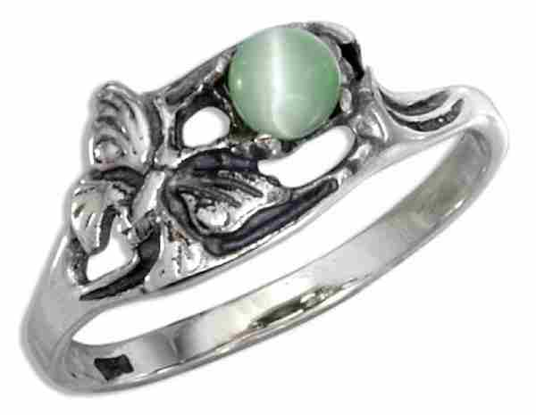 Butterfly Green Cateye Ring