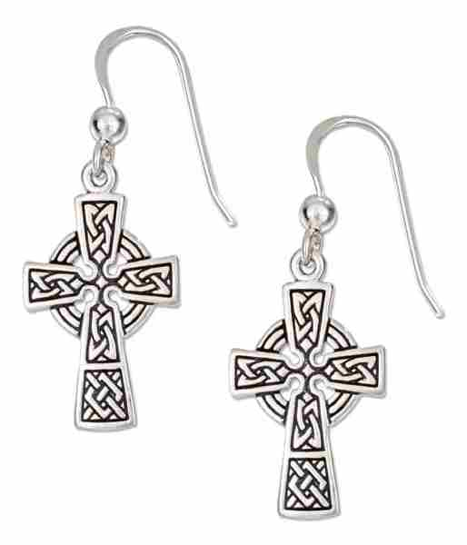 Celtic Cross Dangle Earrings