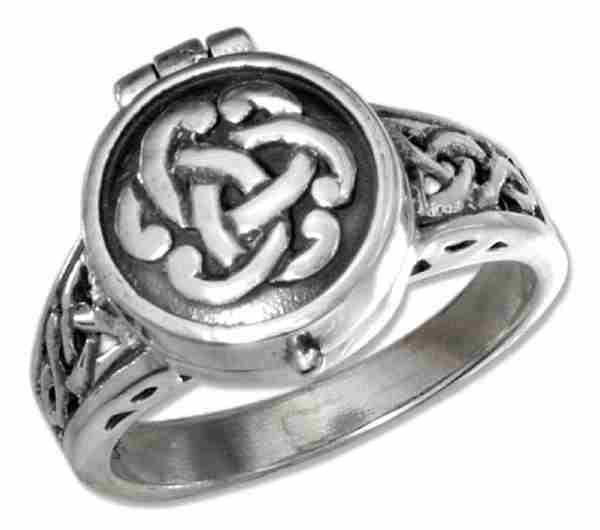 Celtic Knot Poison Ring