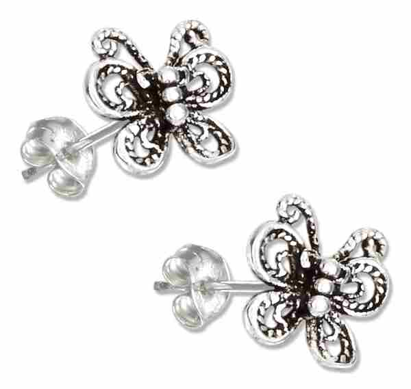 Filigree Butterfly Post Earrings