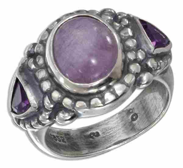 Amethyst Ring Amethyst Trillion Accents