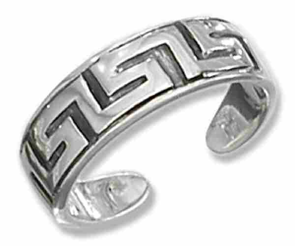 Greek Key Design Toe Ring