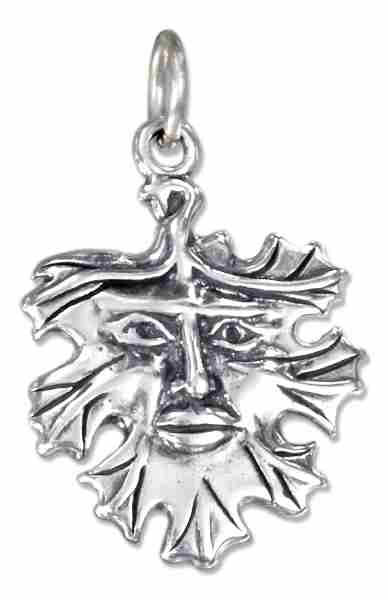 Green Man Leaf Charm