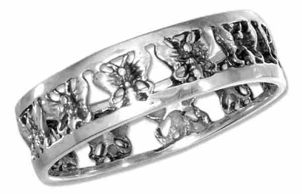 Cut Out Butterfly Ring