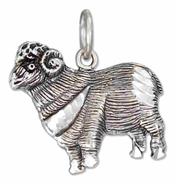 Ram Or Sheep Charm