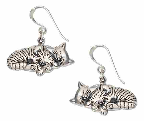 Sleeping Cats Earrings Dangle