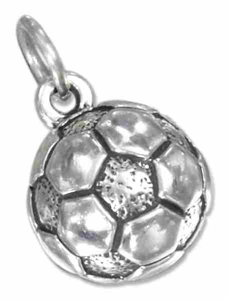 Hollow Half Soccer Ball Charm