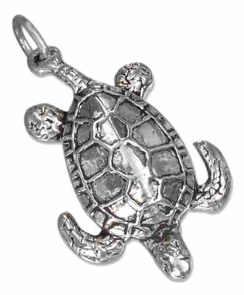 3D Deep Sea Turtle Charm