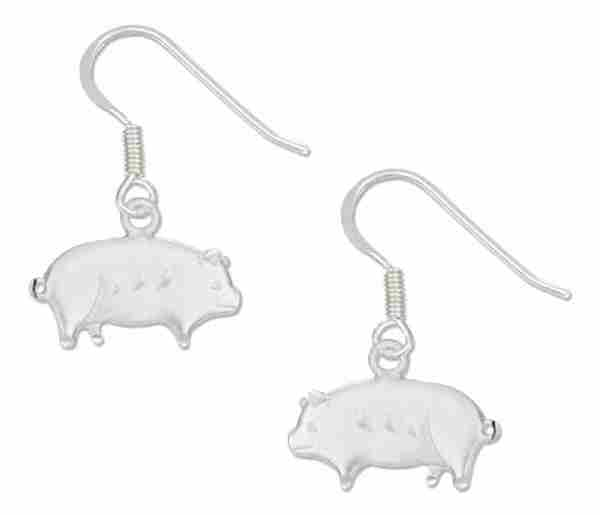 Pig Dangle Earrings