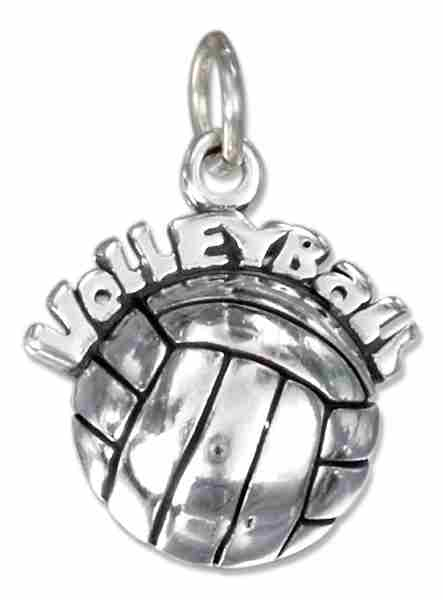 "HOLLOW BACK ""Volleyball"" Over A Volleyball Charm"
